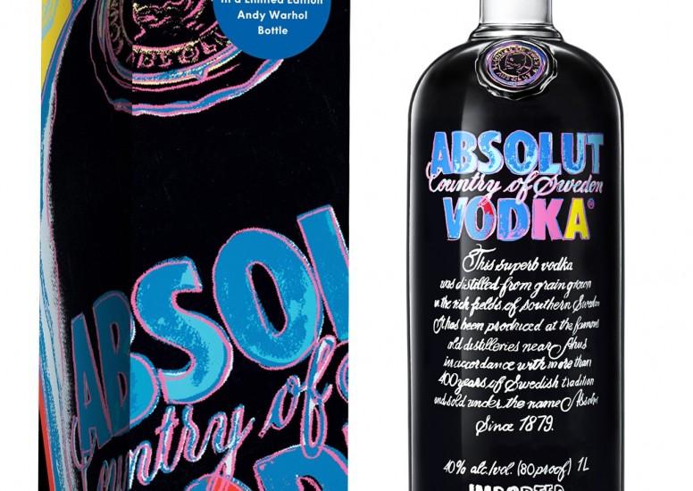 Absolut bottle with Warhol Design