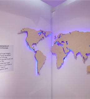 H&M world map on wall