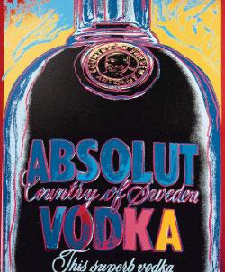 Artwork on vodka bottle