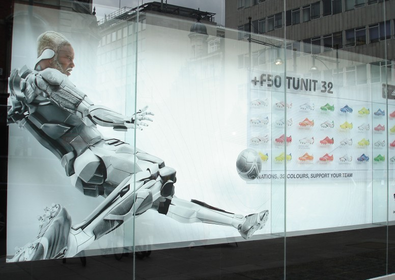We treat each one differently to make sure each window display is unique. & adidas Window Displays - Design4Retail