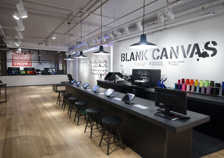 Converse in-store Blank Canvas customisation shop