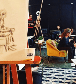 made presents life drawing