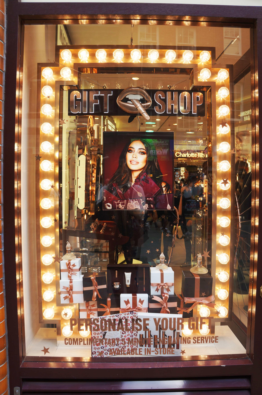 Charlotte Tilbury close up on window display