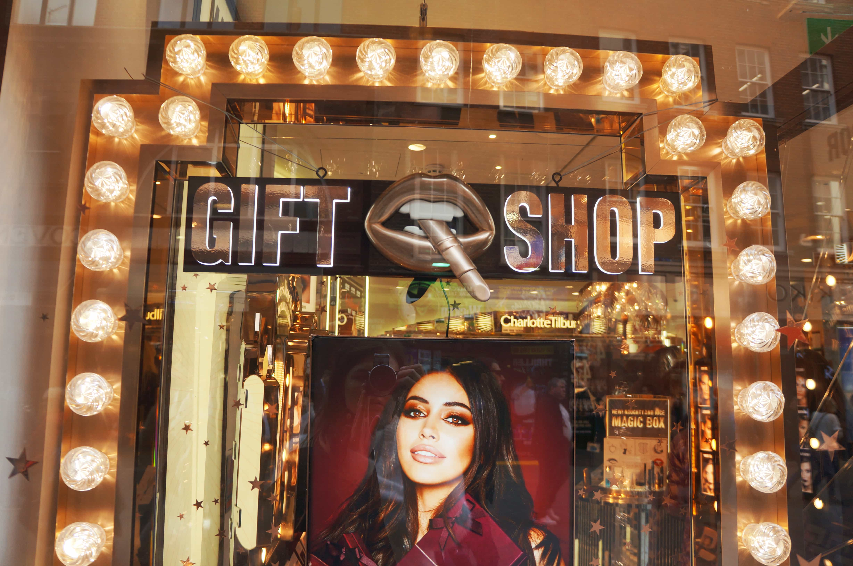 Charlotte Tilbury gift shop window