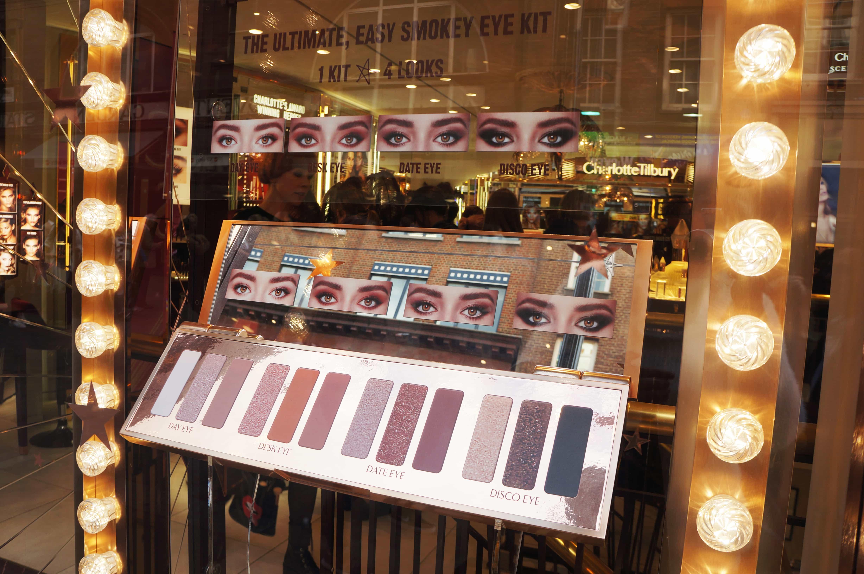 Charlotte Tilbury smokey eye palette display