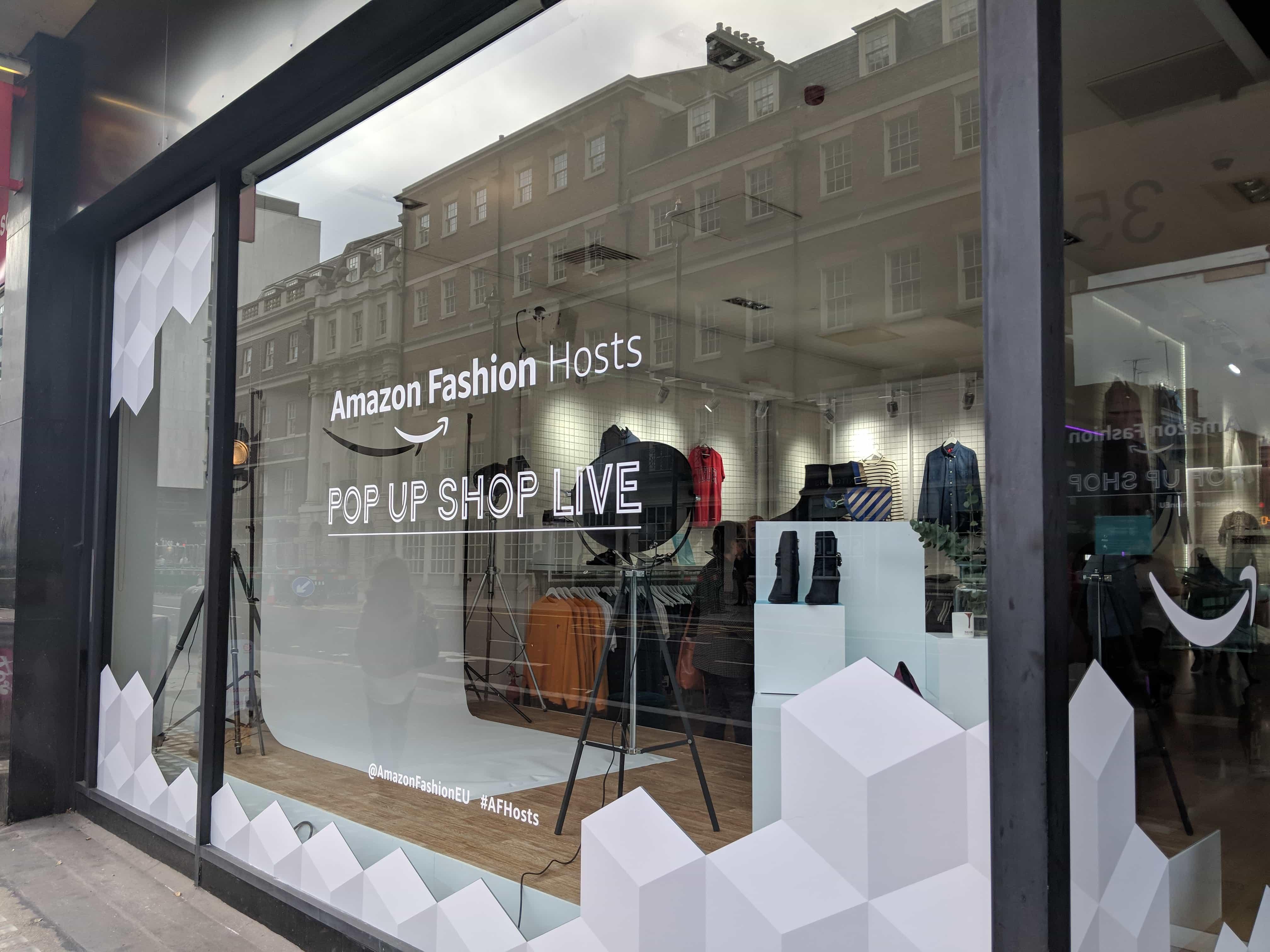 amazon live pop-up shop